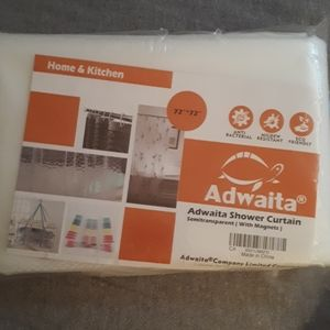 Semi Clear Shower Curtain Liner - NWT